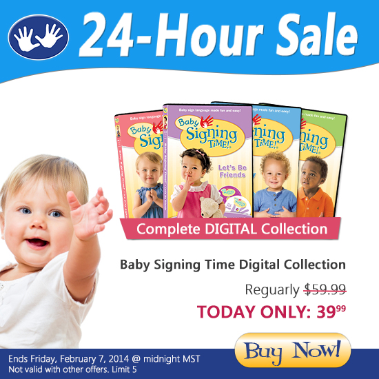 Baby Signing Time Digital Collection just $39.99 Friday, Feb. 7, 2014 only