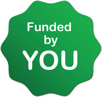 Funded by you!