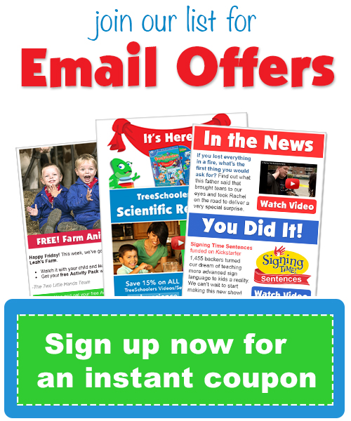 Baby Sign Language, Signing Time Newsletter Signup