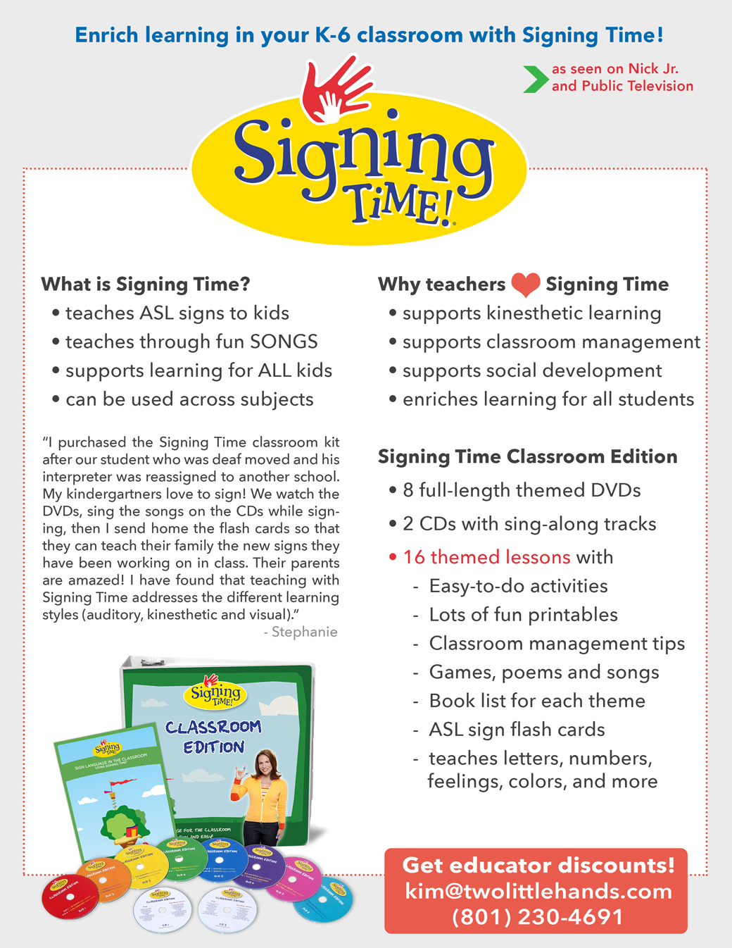 Signing Time Classroom Edition
